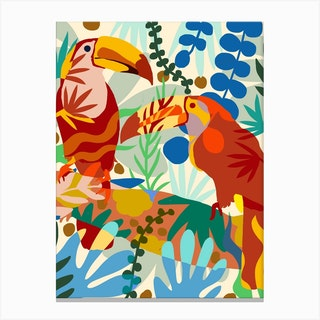 Toucan Of My Love Canvas Print