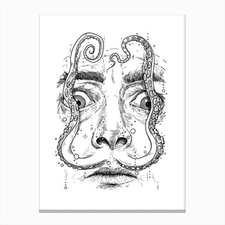 Octopus Dali Canvas Print