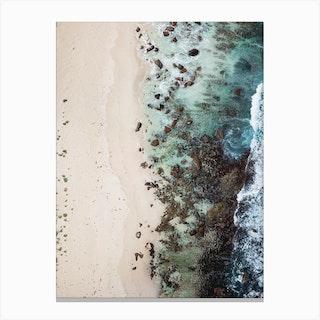 Sandy Beach Green Canvas Print