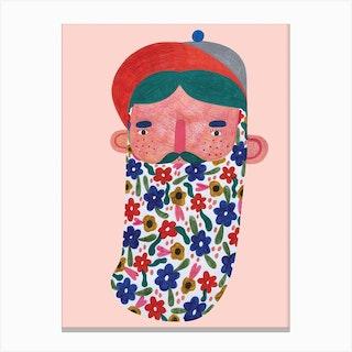 Beardy Canvas Print