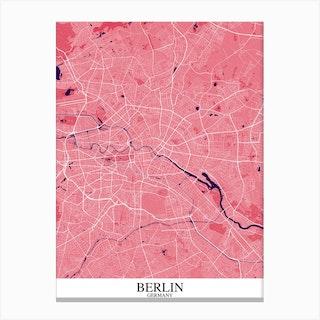 Berlin Pink Purple Canvas Print