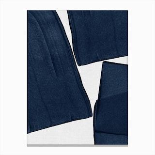 Minimalist Painting Blue Iii Canvas Print