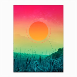 Gradients In The Forest Canvas Print