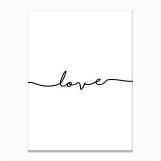 Love Quote Portrait Canvas Print