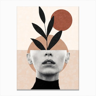 Abstract Geometric Floral Beauty Canvas Print