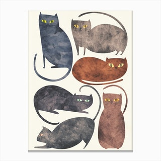 Cats in Canvas Print