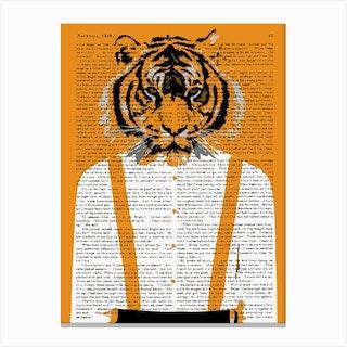 Tiger Braces Canvas Print