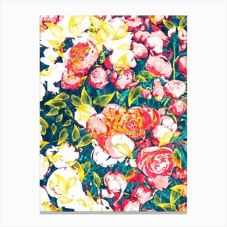 Nature Smiles In Flowers Canvas Print