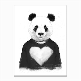 Lovely Panda Canvas Print