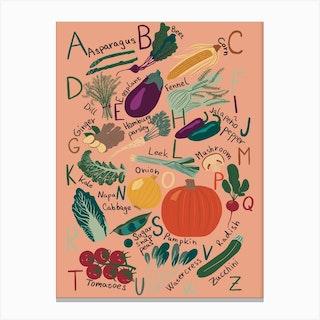 Vegetable Alphabet Canvas Print