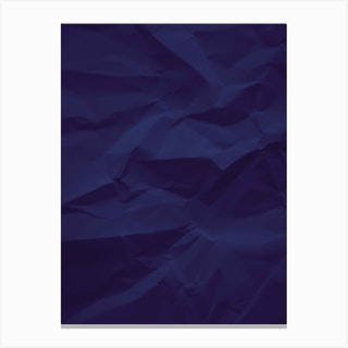Paper Water Classic Blue Canvas Print