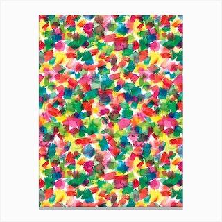 Spring Colors Multicolored Canvas Print