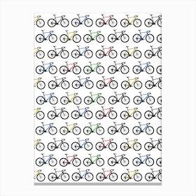 Road Bikes Canvas Print