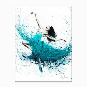 Ballerina Waves Canvas Print
