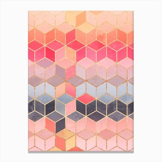 Happy Cubes Canvas Print