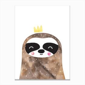 Brown Sloth Canvas Print