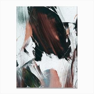 Peach Abstract Canvas Print