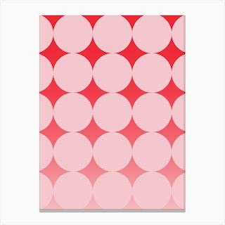 Circling Pink Canvas Print