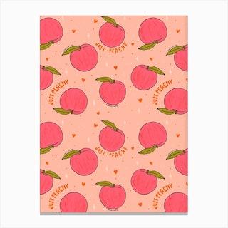 Peach Print Canvas Print