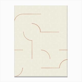 Minimal Wall Tiles 03 Canvas Print