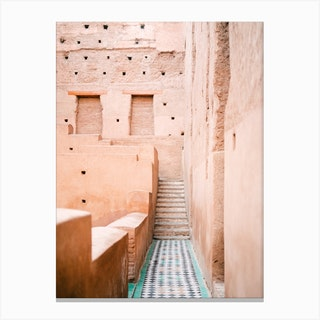 Colors Of Marrakech Morocco El Badi Palace Canvas Print
