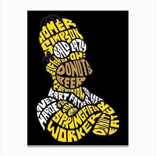 Homer Simpson Canvas Print