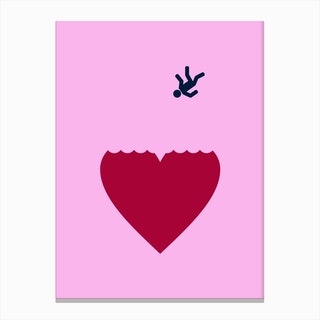 Ever Fallen In Love Pink Canvas Print