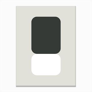 Emphatic Black White Canvas Print
