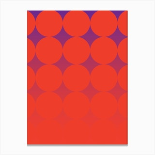 Circling Red Canvas Print