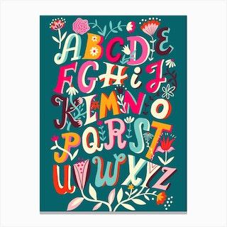 Alphabet Chart Canvas Print