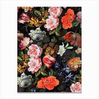 Dutch Antique Flowers Iii Canvas Print