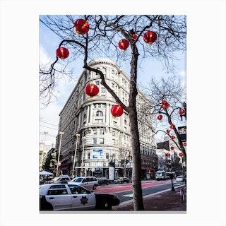 Red Lanterns Canvas Print