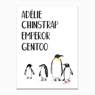 Atypical Penguins Canvas Print
