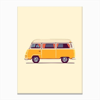 Yellow Hippie Bus Canvas Print