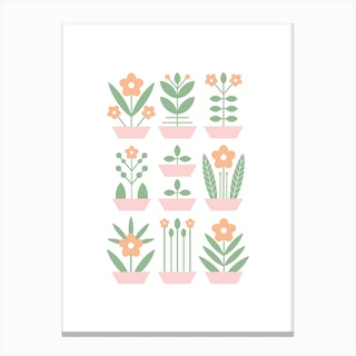 Nine Plants Canvas Print