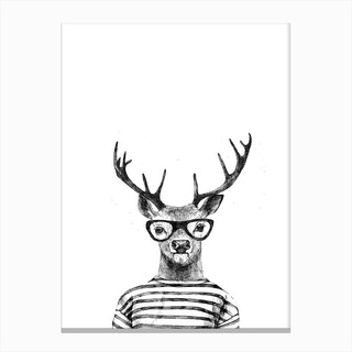 Hipster Deer Canvas Print