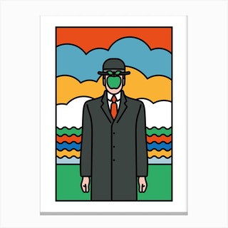 Apple Man Canvas Print