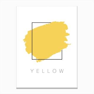 Yellow Color Box Canvas Print