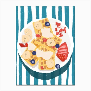 Strawberry Waffles Canvas Print