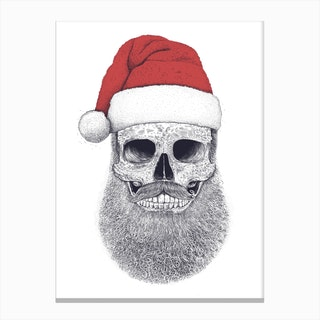 Santa Skull Canvas Print