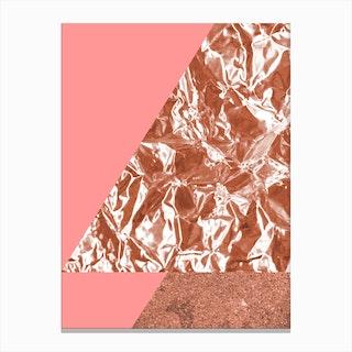 Rose Gold Mountain I Canvas Print