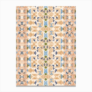 Boho Nomadic Tribal Orange Canvas Print
