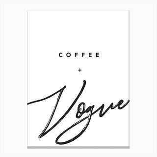 Coffee And Vogue Canvas Print