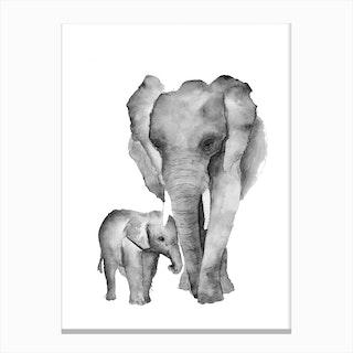 Elephant Mama Canvas Print