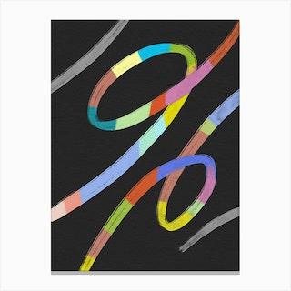 Abstracto Rainbow Canvas Print