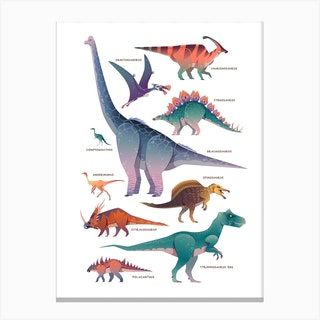 Dinosaurs Kids Room Canvas Print