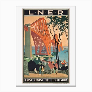 A London And North Eastern Railway Poster Advertising East Coast Journeys To Scotland Canvas Print