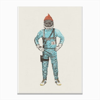 Zissou In Space Canvas Print