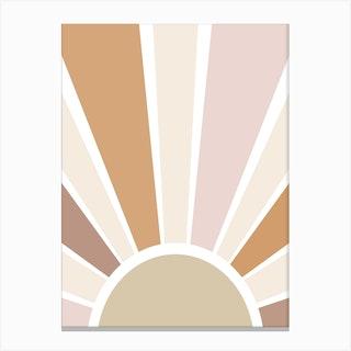 Retro Sun Canvas Print