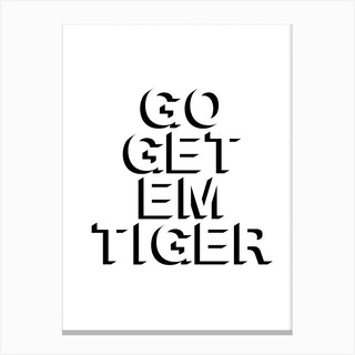 Go Get Em Tiger Shadow 2 Canvas Print